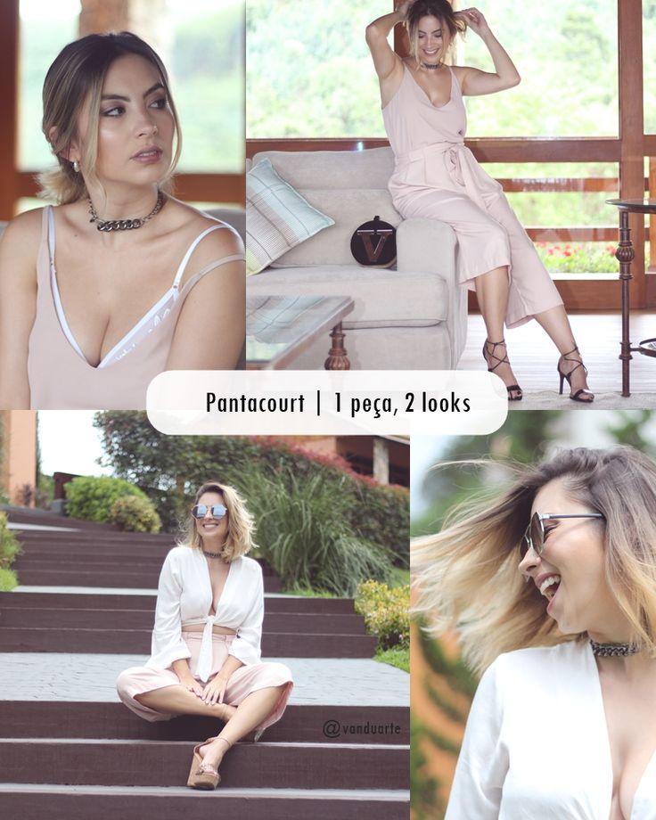 1 Peças, 2 looks – Como Usar Pantacourt no verão duas formas de usar a calça pantacourt, look 1 noite, look 2 verão, festas de verão.