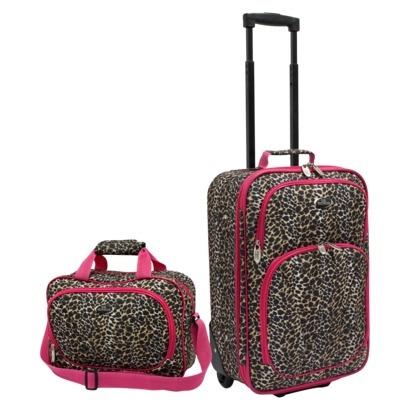 Deborah wants leopard or cheetah print suitcase. This is cute