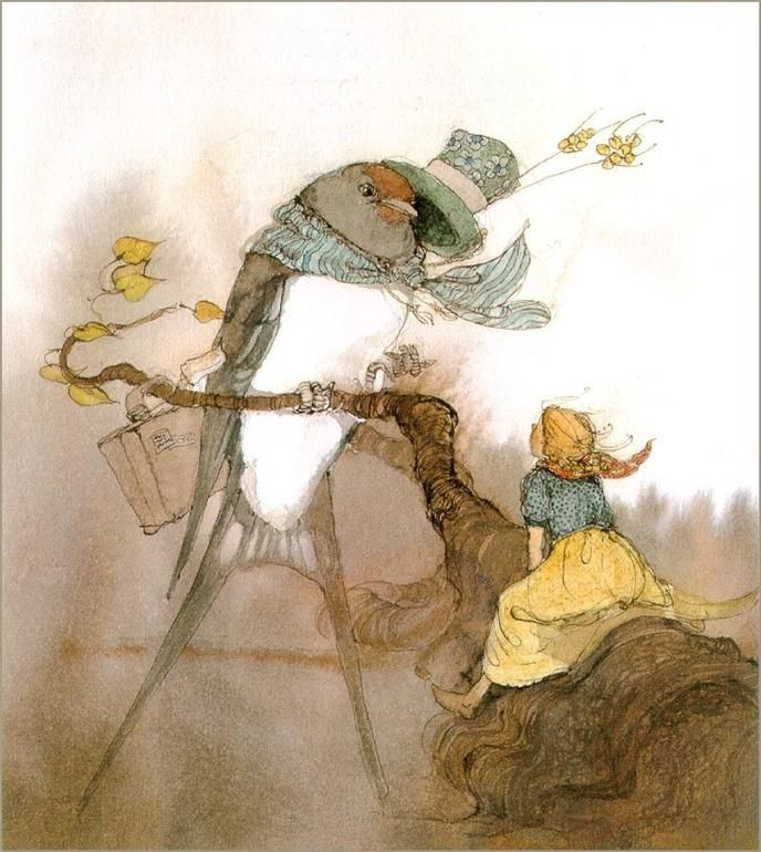 From the book Thumbeline by Hans Christian Andersen.. Illustrated by Lisbeth Zwerger