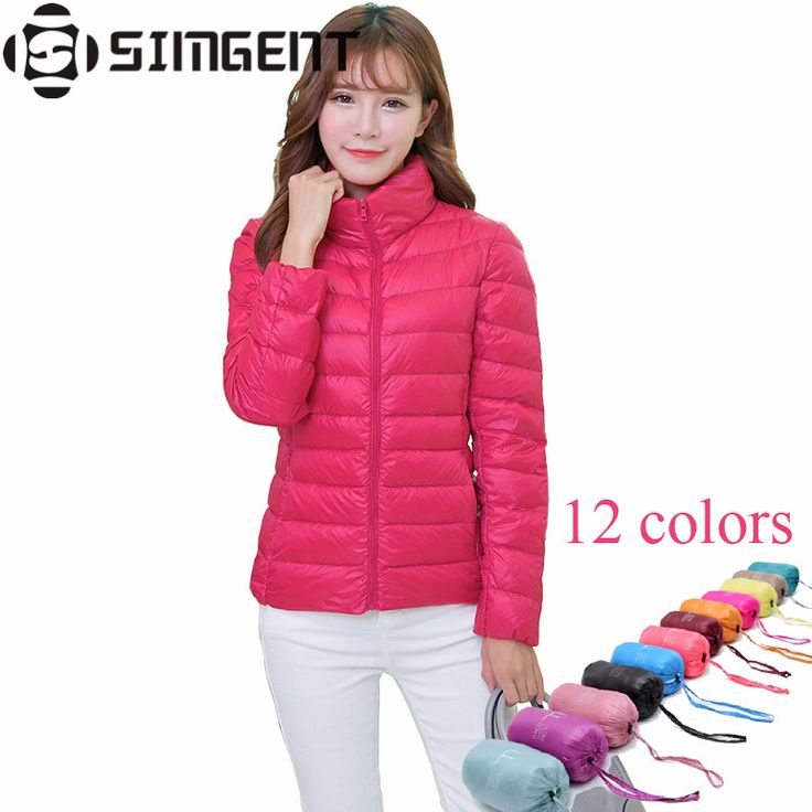 Ultra Light Down Jacket Women 12 Candy Colors Stand Collar Solid Parka Winter Jacket Campera De Pluma Mujer Jaqueta Feminina