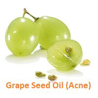 Grape Seed Oil for acne. We use grapeseed oil in our recipe for our cut and scrape remedy called Dandelion Oil. It also heals acne and other skin irritations.