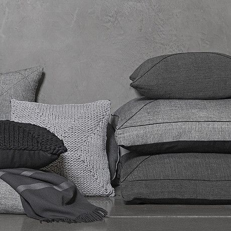 FLOOR CUSHION | square khadi in charcoal by one another design