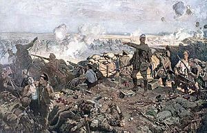 1915: The Second Battle of Ypres, April 22-May 25, marks the first time that Germany uses poison gas on a large scale on the Western Front.