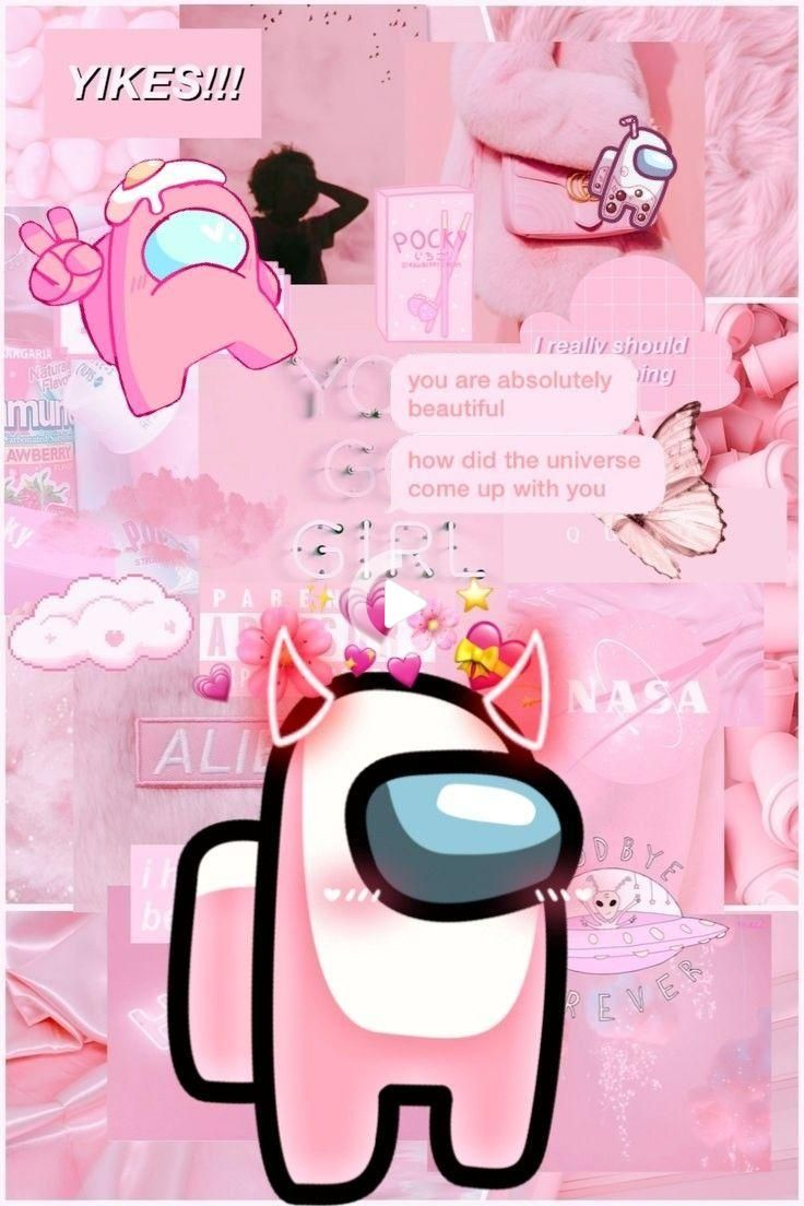 Pink Among Us In 2021 Wallpaper Iphone Cute Wallpaper Iphone Neon Pink Wallpaper Anime