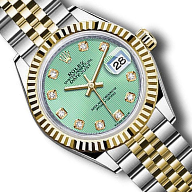 Brand New Rolex Datejust 279173 28mm Green Dial w/ Diamond Hourmarker Gold/Steel #Rolex #Casual
