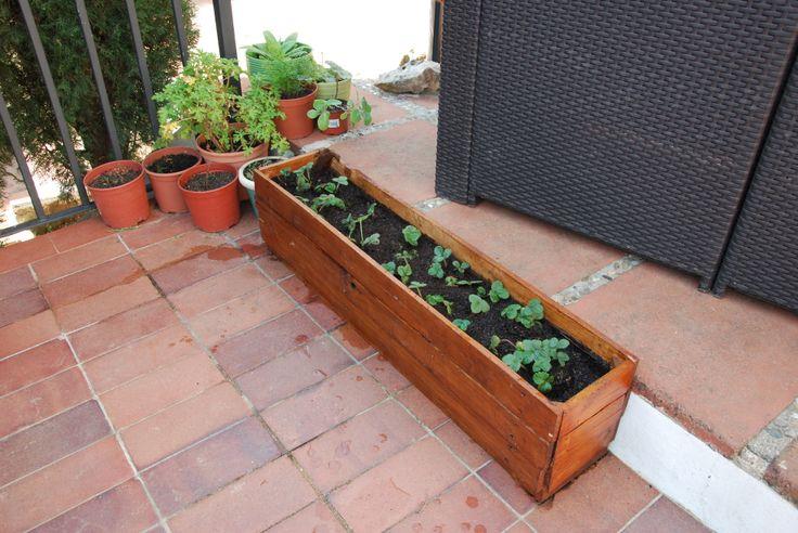 Jardinera hecha con maderas de Palet