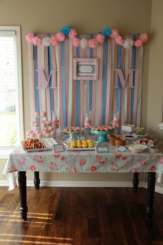32 Best Pink Blue Baby Shower Images On Pinterest Shower Ideas