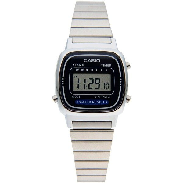 Casio Wrist Watch (215 RON) ❤ liked on Polyvore featuring jewelry, watches, blue, casio, stainless steel jewellery, blue watches, casio watches y stainless steel watches