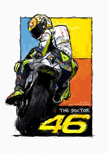 Valentino Rossi Vector Painting