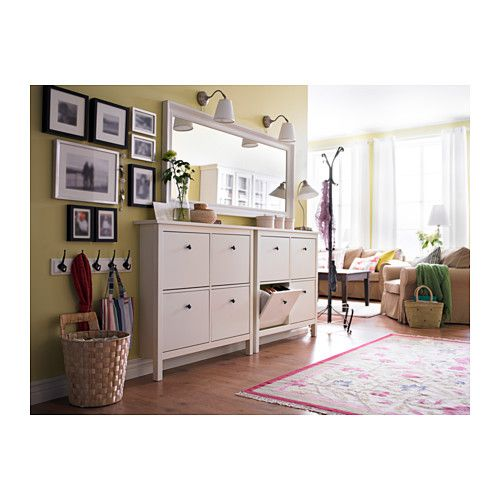 "I LOVE this mirror over a dresser with the 2 lighting sconces...  Do oposite wall of bed?  Just have to find dresser that is not so wide...  Only have about 50"".  Would mirror even fit? HEMNES Mirror - white - IKEA"