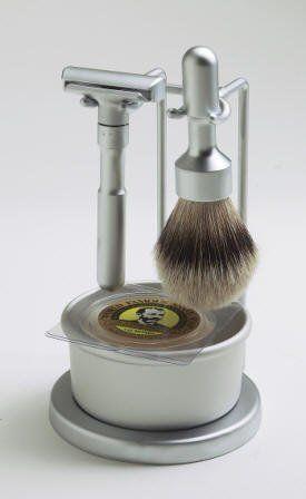 Merkur Futur 4 Piece Shaving Set- Satin Finish-#750- Made in
