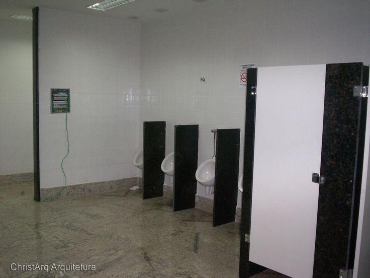 Projeto comercial -  banheiro masculino