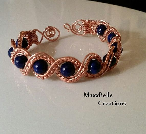 Braided Copper Wire Weave Bracelet with by MaxxBelleCreations