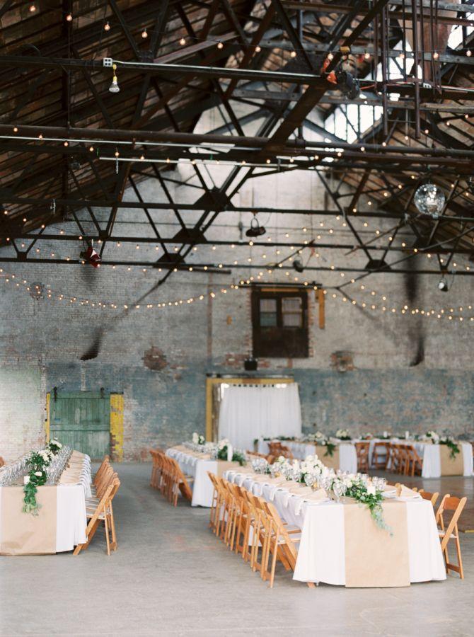 Industrial-chic reception decor: http://www.stylemepretty.com/2016/06/29/eclectic-warehouse-wedding-at-basilica-hudson/ | Photography: Kate Ignatowski - http://www.kateignatowski.com/