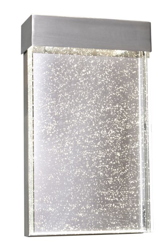 "Maxim 88272 1 Light LED 12"" Tall Outdoor Wall Sconce from the Moda Collection Stainless Steel / Bubble Glass Outdoor Lighting Wall Sconces Outdoor"