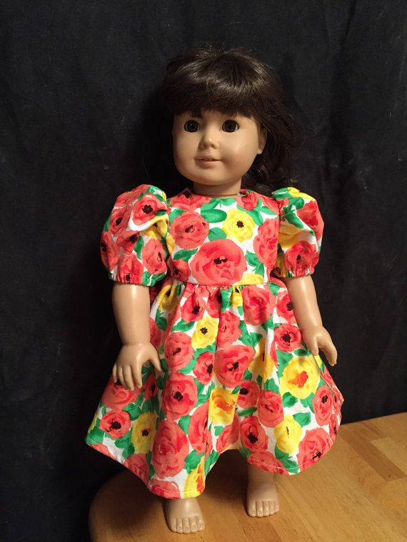 Springtime Flowers Dress for 18 dolls Like American by ThimbleMind