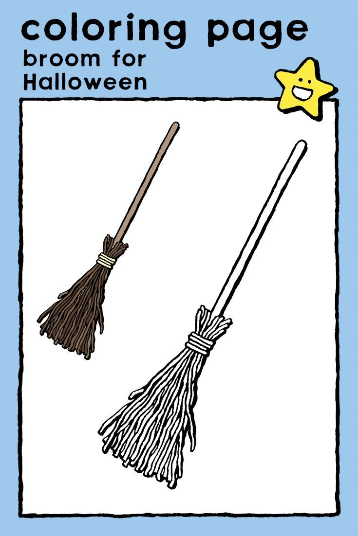 Broom Kiddicolour Halloween Coloring Pages Coloring Pages Scary Coloring Pages