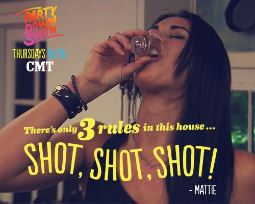 mattie...not sure how i feel about her. Party Down South - Thursdays at 10/9c on CMT!