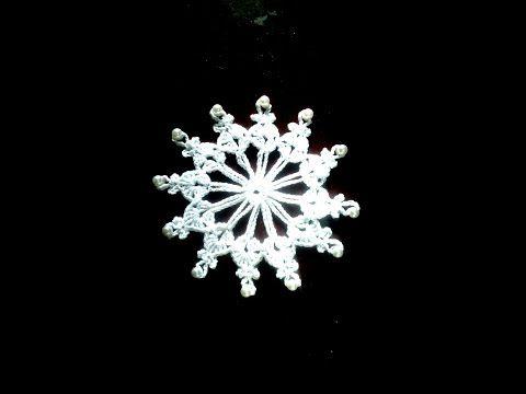 Снежинка с бусинками крючком. Под чашку на новогодний стол. - YouTube