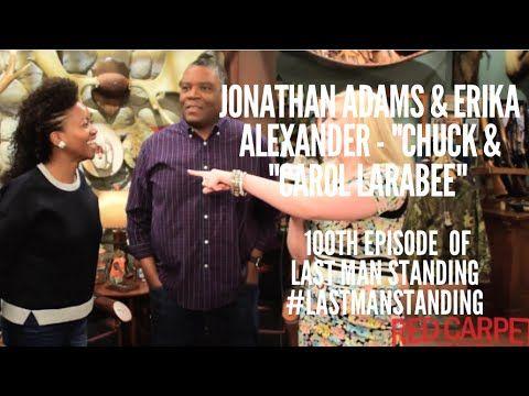 Erika Alexander & Jonathan Adams at the 100th Episode Celebration of #LastManStanding with Cast on Set @ealexthegreat
