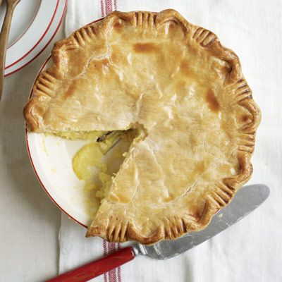 Shaker Lemon Pie: This sweet yet tart citrus pie is named after 19th-century Shakers. The settlers had the idea to fill a tender crust with thinly sliced lemons marinated in sugar