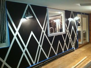 Painters Tape Design Wall
