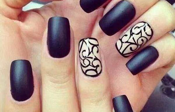 Diseños de uñas con esmalte fácil, diseños uñas con esmalte figuras. Clic Follow, #uñasbonitas #nailsdesign #uñasfinas