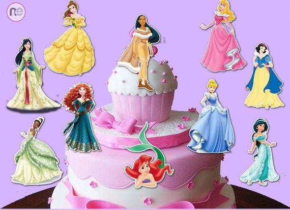 princess centerpiece princess birthday by NiceAndEasyInvites