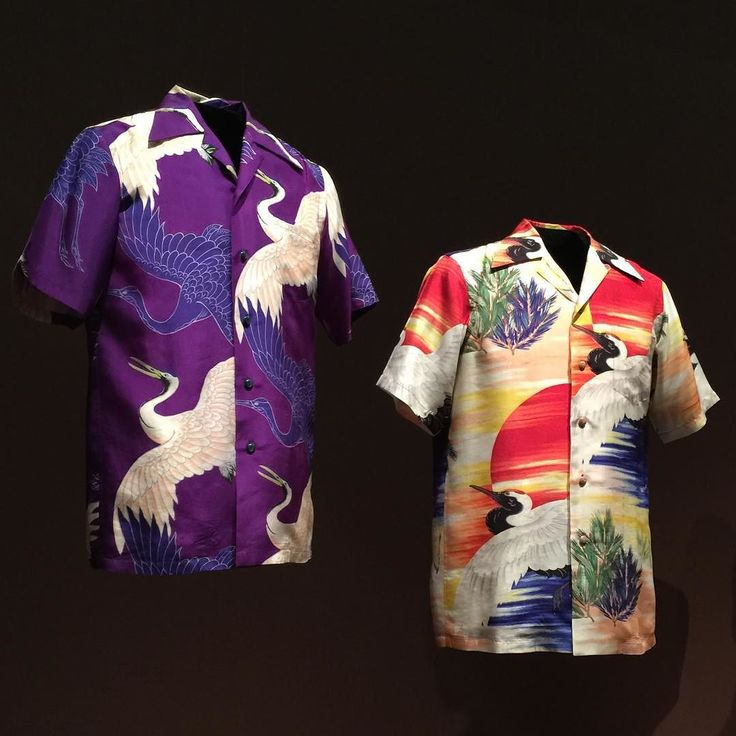 """Here are two examples of #musashiya Considered the creator of the """"Aloha"""" or """"Hawiian Shirt"""" Get ready I am feeling a comeback.... John Coffey would love this! by bentonperformance"""