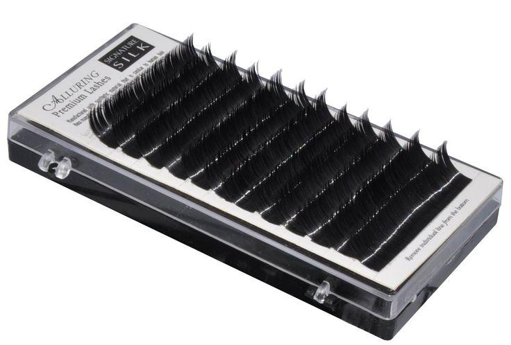 Alluring Silk Lashes C Curl .20 X 8-15mm 9 Sizes in 1 Mixed Tray Eyelash Extensions. Eyelash Extension Silk C Curl .20 X 8-15mm 9 Sizes in 1 Mixed Tray. C Curl .20mm Length- 7, 8, 9, 10, 11, 12, 13, 14, 15 mm.