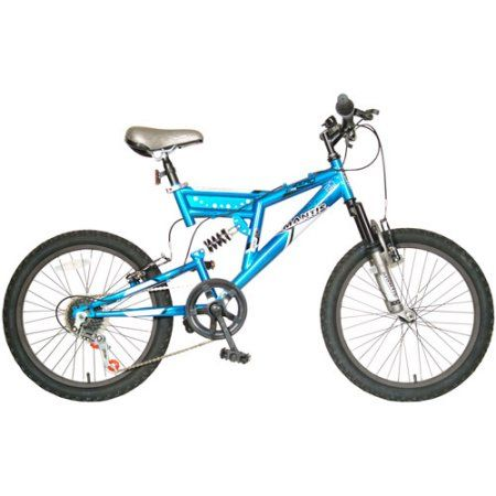 20 inch Mantis Zero Full-Suspension Boys' Mountain Bike, Blue