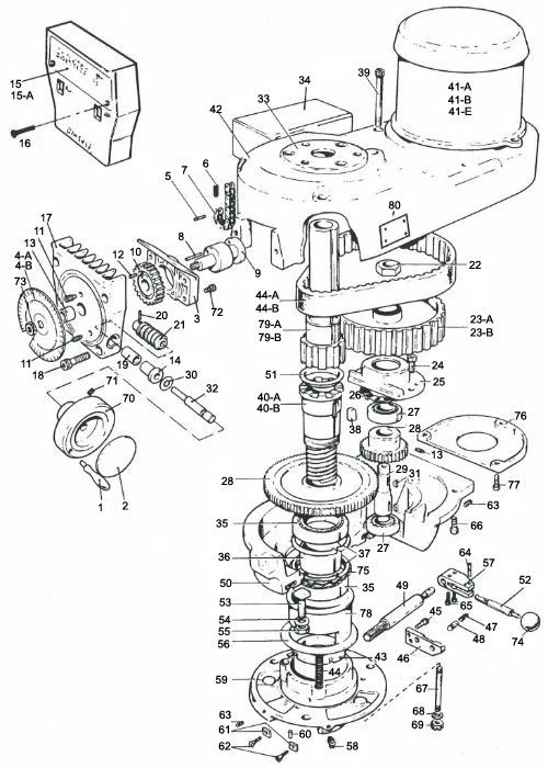 Bridgeport Variable Speed Back Gear Assembly View Parts