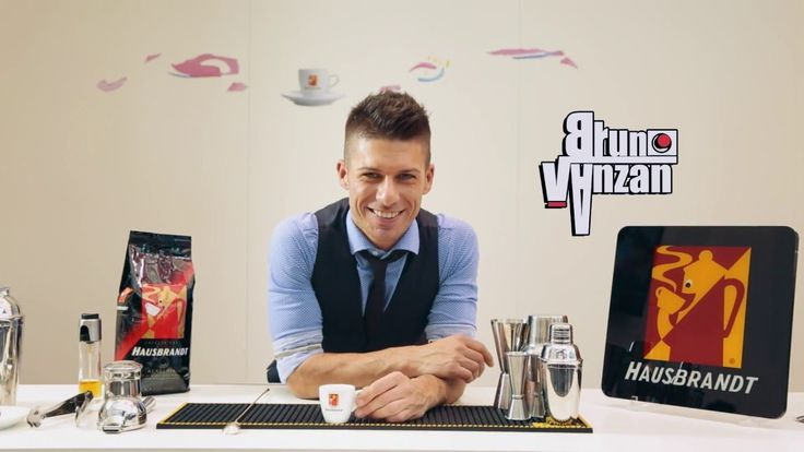 Bruno Vanzan and his famous coffee recipes based on Hausbrandt