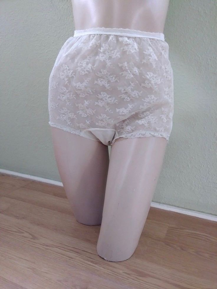 VTG 1960s Panties Henson Kickernick Lace Inset Ivory High Waist 60s Pin Up Sz M #VanRaalte #Glamour