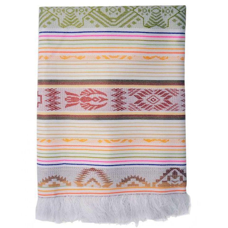 Nappe de table d'Équateur - Grand format - Blanche - coloré