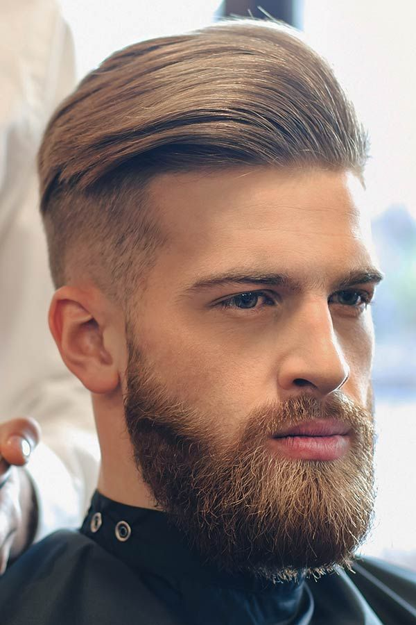 Step By Step Tutorial On How To Style A Slicked Back Undercut Wavy Hair Men Fade Haircut Mens Haircut Shaved Sides