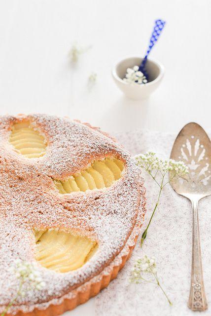 tarte aux poires et aux amandes