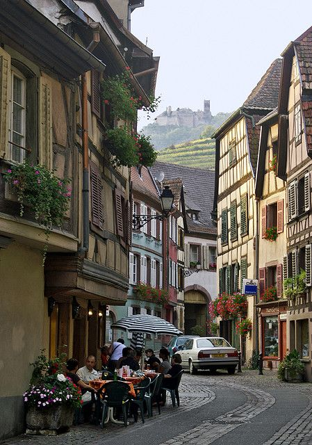 Charming villages of Alsace, Ribeauvillé, France (by jeanpierreossorio).