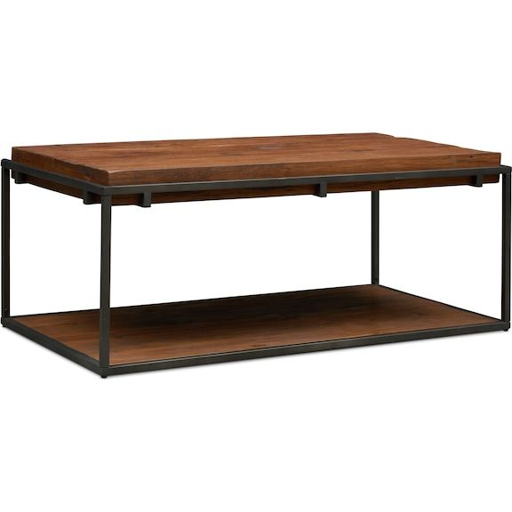Woodford Coffee Table Dark Brown Value City Furniture And Mattresses Coffee Table Living Room Coffee Table Living Room Table #value #city #living #room #tables