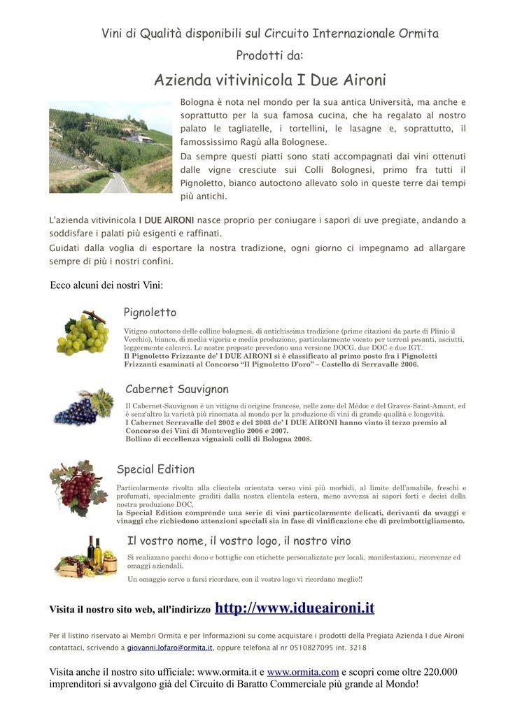 Circuito Vitivinicola : Vini di qualità disponibili sul circuito internazionale