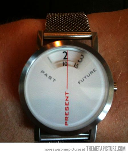 In the future your watch gets a little post modern on you, but why are you wearing a watch?