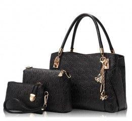Kabelka, taška, peněženka v krásné sladěné černé sadě - DOPRAVA ZDARMAPošta…
