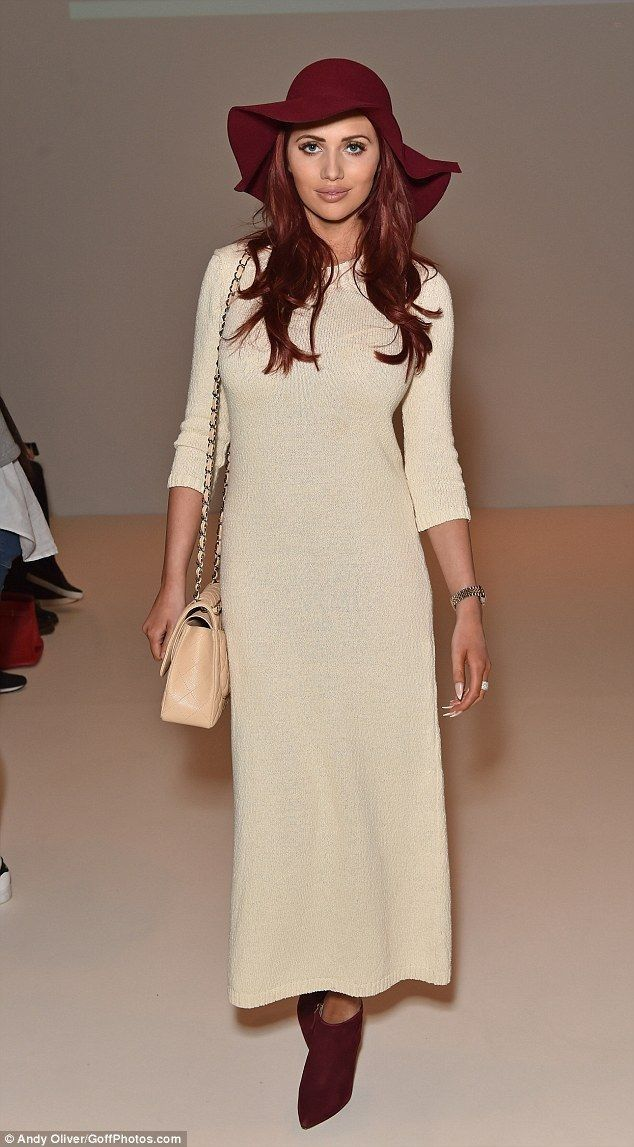 Amy Childs dons floral wide-legged trouser suit to C.J. Yao LFW show - Celebrity Fashion Trends