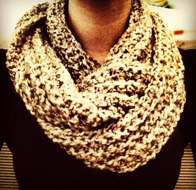 Crotchet infinity scarf