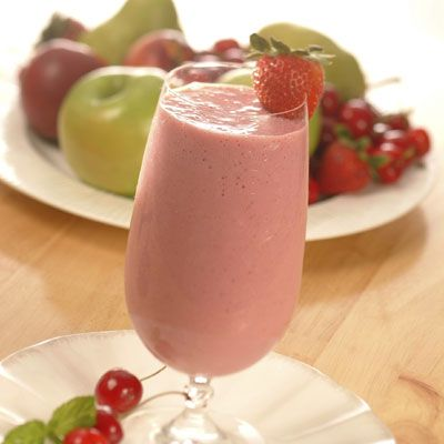 Creamy Fruit Smoothie (Easy; 4 servings, 1 cup each) #smoothie