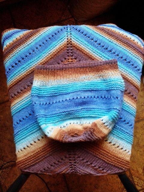 Шаль и шапка из Alize Cotton Gold Batik: ru_knitting