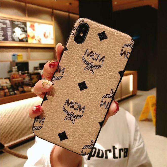 2 In 1 Mcm Iphone Xs Max Case Iphone Xs Xr 8 7 Plus Case Cover Beige Iphone Cases Iphone Case
