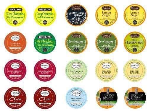 crazy cups decaf tea premium sampler pack kcup portion pack for keurig k - Decaf K Cups
