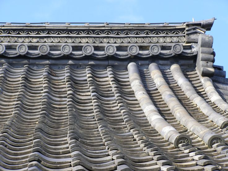 Temple roof, Kyoto