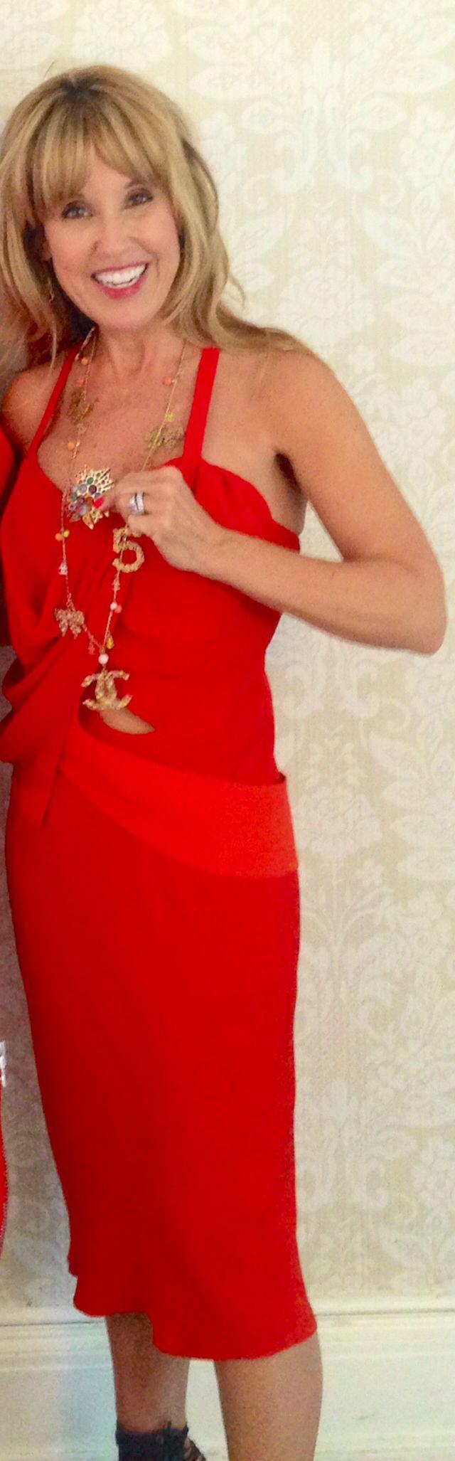 Chris constantine indigo red summer dress